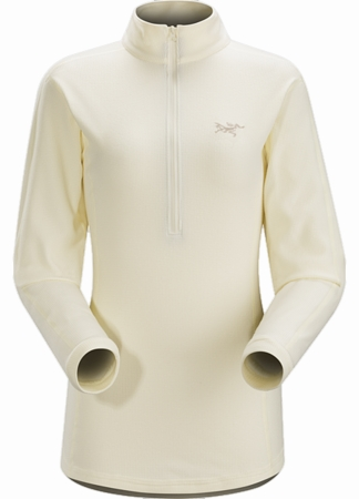 Arc'teryx Womens Delta LT Zip Neck Vintage Ivory (Close Out)