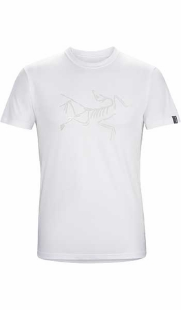 Arc'teryx Mens Archaeopteryx Short Sleeve T-Shirt White/ Silver