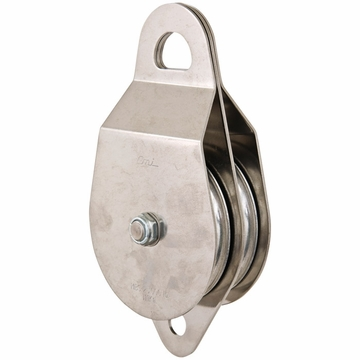 "CMI Heavy Duty Double 4"" Stainless Steel Bushing Rescue Pulley"