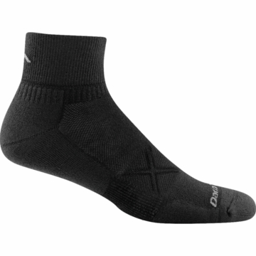 Darn Tough Running Vertex 1/4 Sock Ultra Light Black