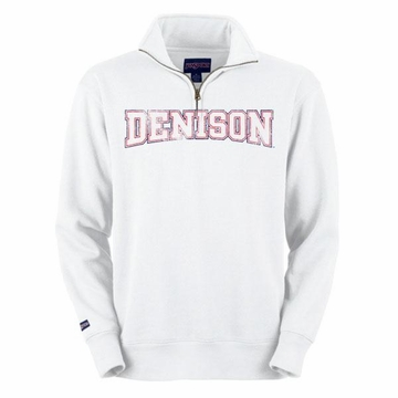Denison 1/4 Zip Sweatshirt White XL