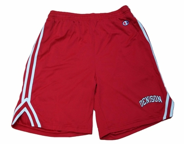 Denison Champion Attack Short with Arched Logo Scarlet
