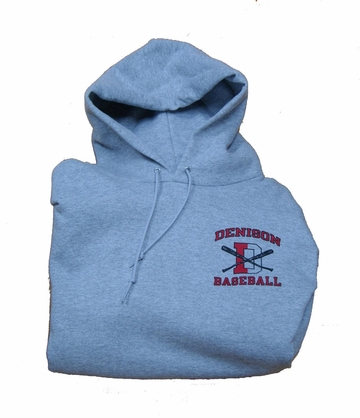 Denison Champion Baseball Hoodie Grey