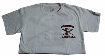 Denison Champion Baseball Tee White