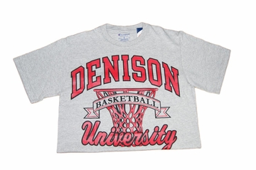 Denison Champion Basketball Tee Grey