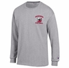 Denison Champion Football Long Sleeve Tee Oxford Grey