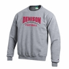 Denison Champion Football Powerblend Fleece Crew Heather Gray