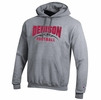 Denison Champion Football Powerblend Hoodie Heather Gray