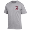 Denison Champion Football T-Shirt Oxford Grey