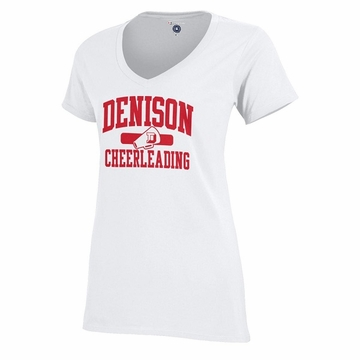 Denison Champion Sports V Cheerleading White