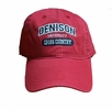 Denison Legacy Classic Cross Country Hat Red