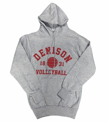 Denison MV Classic Fleece Hoodie Volleyball Gray
