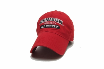 Denison Legacy Classic Ice Hockey Hat Red