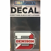 Denison D Decal