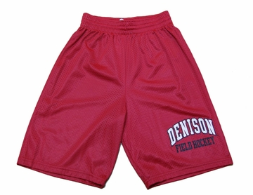 Denison MV Field Hockey Shorts Red