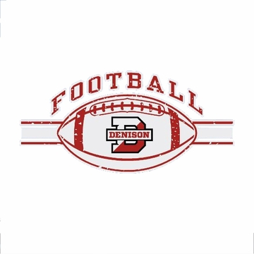 Denison Football Car Decal
