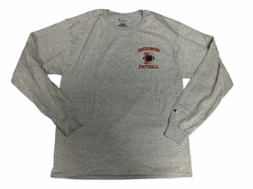 Denison Champion Football Long Sleeve Shirt Grey