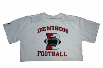 Denison Champion Football Tee White