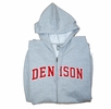 Denison MV Full Zip Sweatshirt Grey/ Red