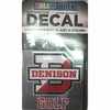 Denison Golf Car Decal