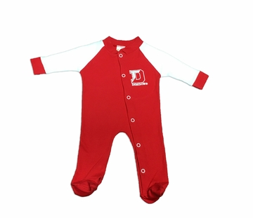 Denison Infant Footed Sleeper Romper Red