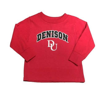 Denison Toddler/ Kids DU Long Sleeve Shirt Scarlet