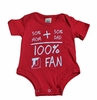 Denison Baby Onesie 100% Denison Fan Red