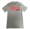 Denison Nike Lacrosse Dri-Fit SS Tee Heathered Grey