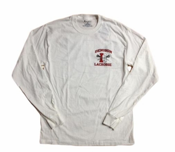 Denison Champion Lacrosse Long Sleeve Shirt White