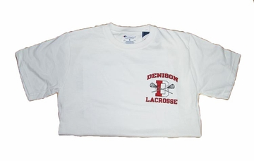 Denison Champion Lacrosse Tee Short Sleeve White