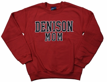 Denison MV Mom Comfort Fleece Crew Red