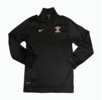 Denison Nike Baseball DriFit 1/4 Zip Top Black