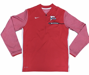 Denison Nike Coach 1/2 Zip Top Red/ White