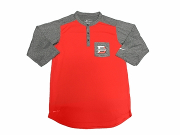 Denison Nike Dri-fit Henley Top Red