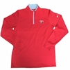 Denison Nike DriFit Golf 1/2 Zip Long Sleeve Red