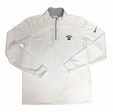 Denison Nike DriFit Golf 1/2 Zip Long Sleeve White