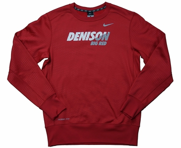 Denison Nike KO Fleece Crew Red/ White