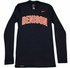 Denison Nike Legend Long Sleeve Tee Navy