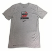 Denison Nike Legend Short Sleeve Lacrosse Tee Dark Heather