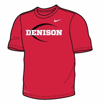 Denison Nike Mens Legend SS Tee Football Icon Red