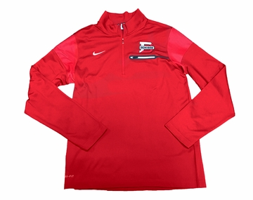 Denison Nike Sideline Edition Coach 1/2 Zip Red/ White