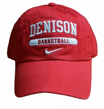 Denison Nike Sports Hat Basketball Red