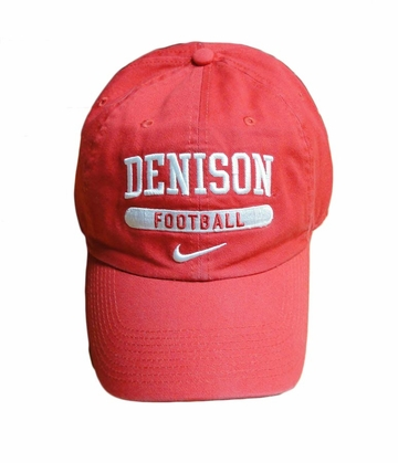 Denison Nike Sports Hat Football Red