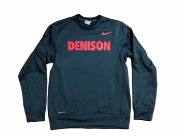 Denison Nike Therma-Fit Fleece Crew Anthracite