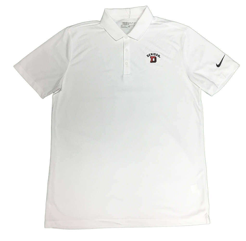 77769229 Denison Nike Victory Solid Polo White