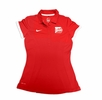 Denison Nike Womens Sideline Edition Polo Red/ White
