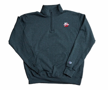 Denison Champion Powerblend 1/4 Zip Charocal/ Granite