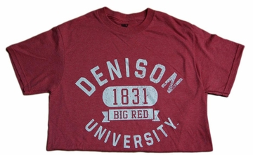 Denison MV Retro Heathered Tees Red