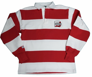 Denison Rugby Wear Long Sleeve Polo White/ Red 3xl