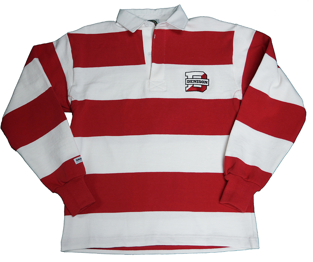 Denison Rugby Wear Long Sleeve Polo White Red 3xl